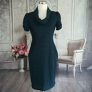 Evan Picone Women's Dress Black Teal Size 8
